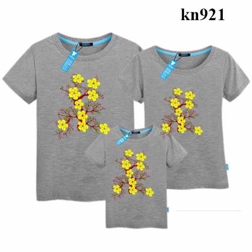 áo gia đình in hoa mai